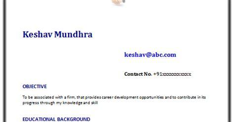 Professional resume for mba freshers